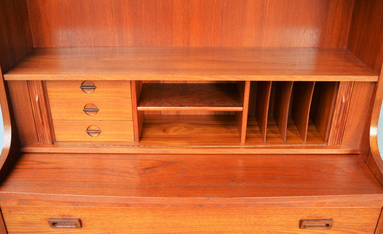 Danish Modern Teak Secretary/Dresser by Johannes Sorth for Bornholm Mobelfabrik For Sale 5