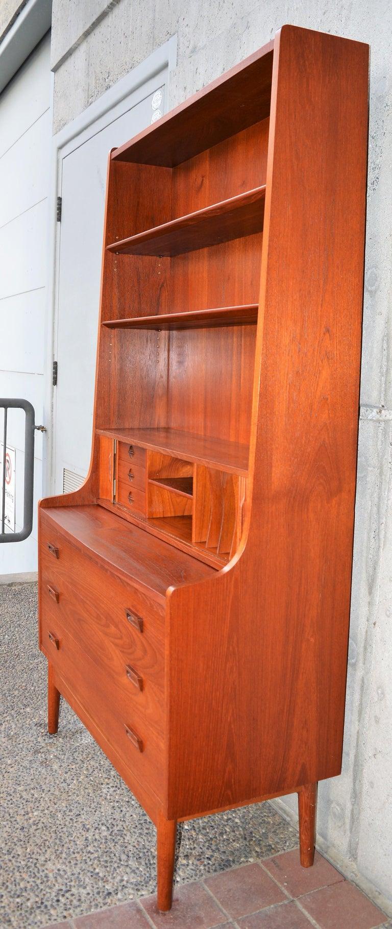 Danish Modern Teak Secretary/Dresser by Johannes Sorth for Bornholm Mobelfabrik For Sale 6