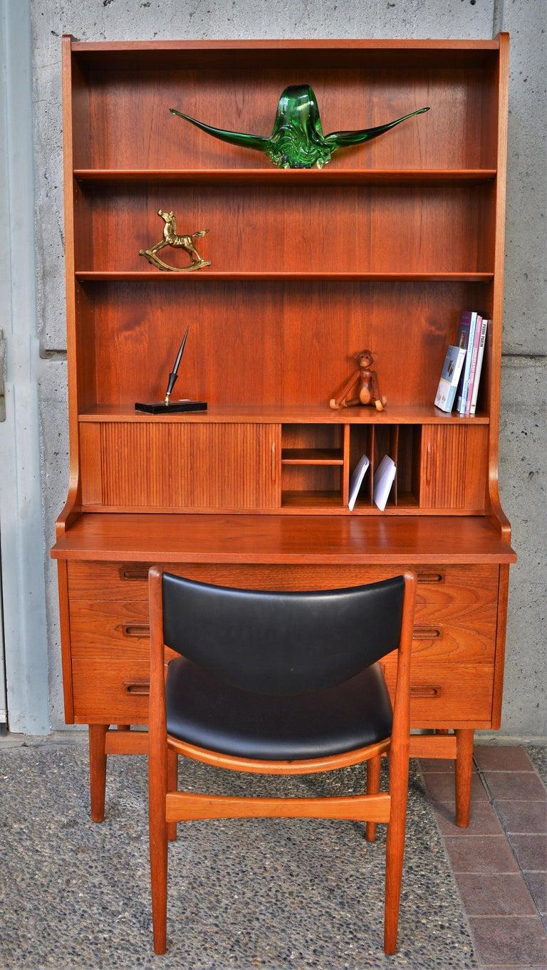 Mid-Century Modern Danish Modern Teak Secretary/Dresser by Johannes Sorth for Bornholm Mobelfabrik For Sale