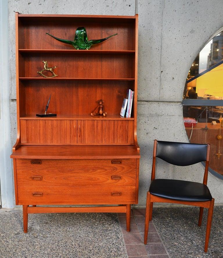 Danish Modern Teak Secretary/Dresser by Johannes Sorth for Bornholm Mobelfabrik In Good Condition For Sale In New Westminster, British Columbia