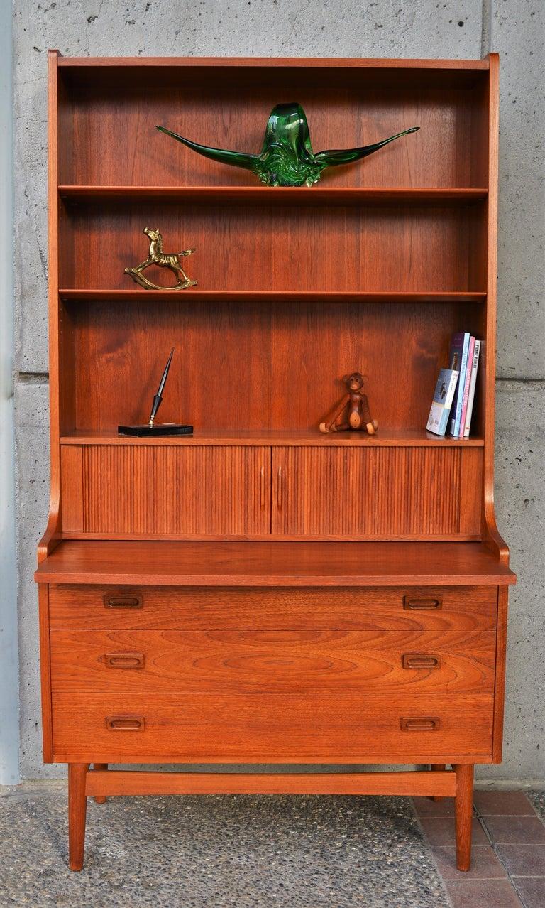 Mid-20th Century Danish Modern Teak Secretary/Dresser by Johannes Sorth for Bornholm Mobelfabrik For Sale