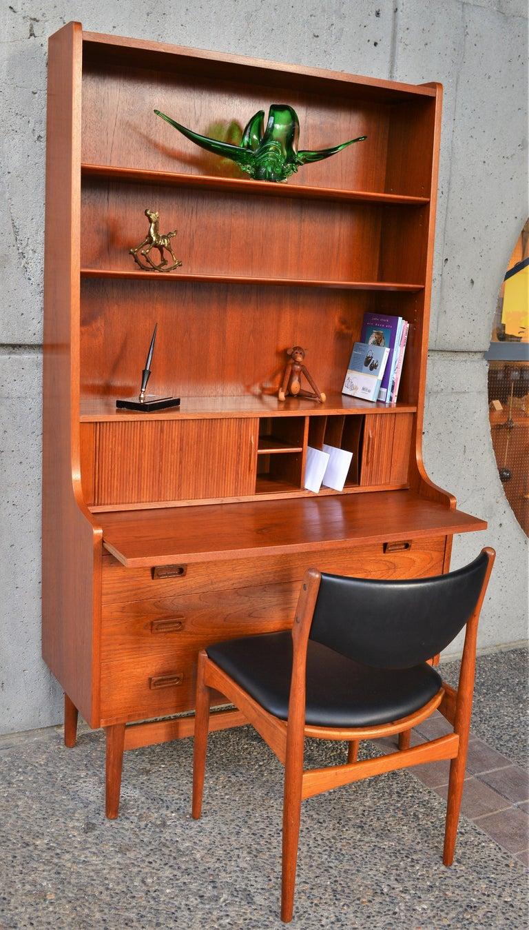 Beech Danish Modern Teak Secretary/Dresser by Johannes Sorth for Bornholm Mobelfabrik For Sale