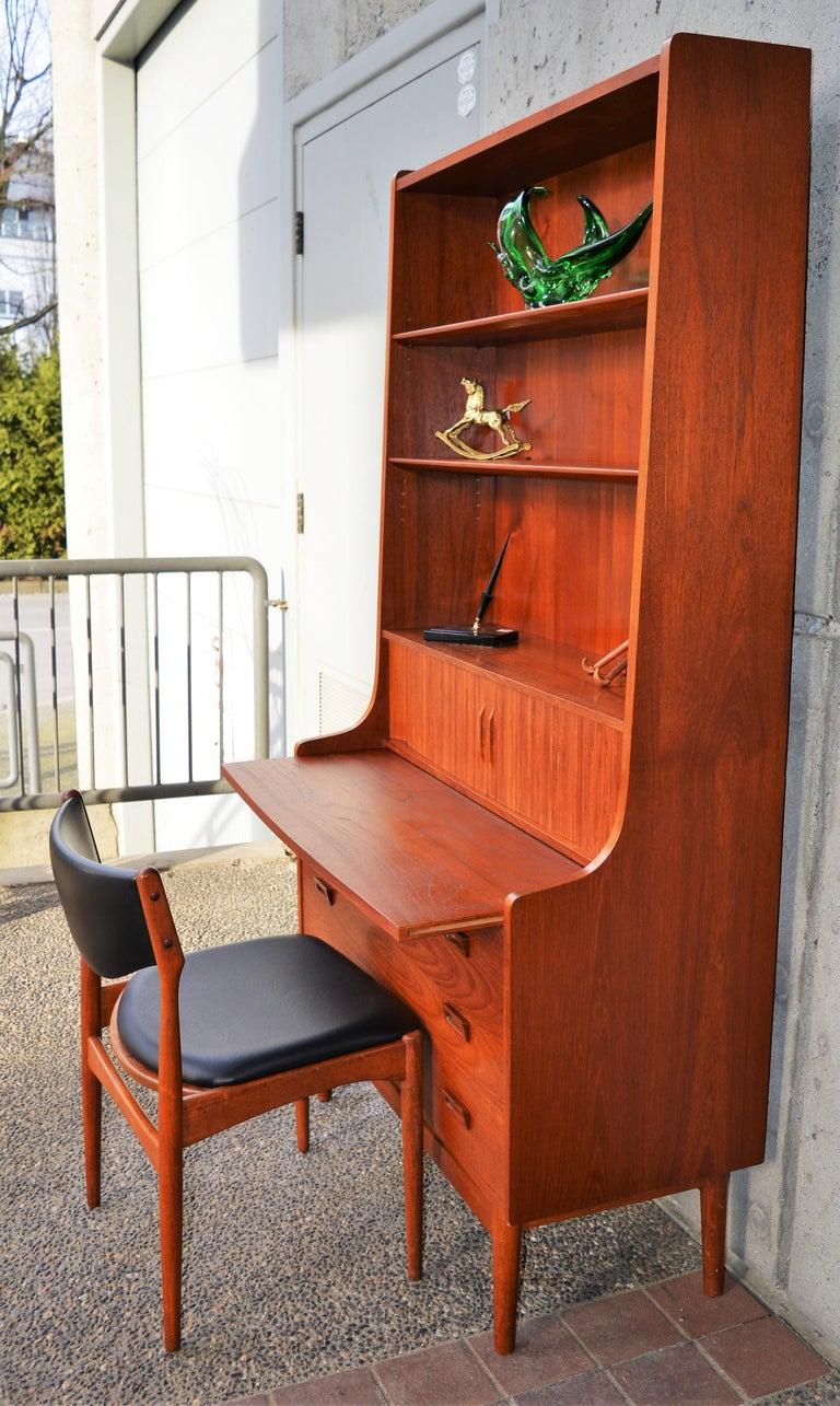 Danish Modern Teak Secretary/Dresser by Johannes Sorth for Bornholm Mobelfabrik For Sale 1