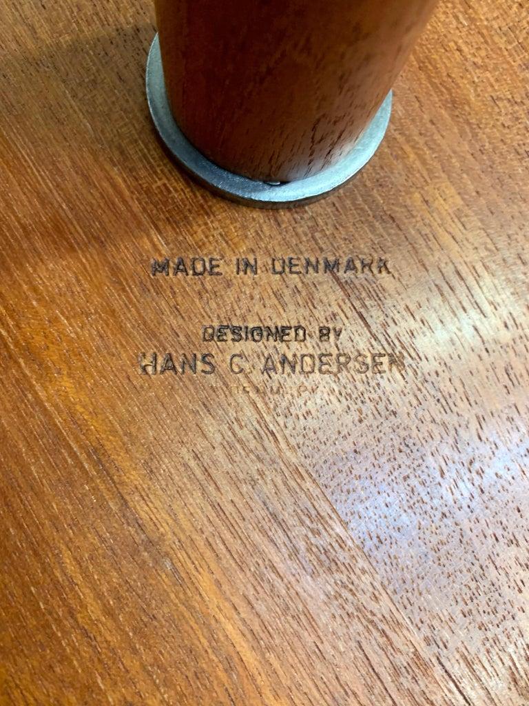 Danish Modern Teak Side Table Designed by Hans Andersen For Sale 4