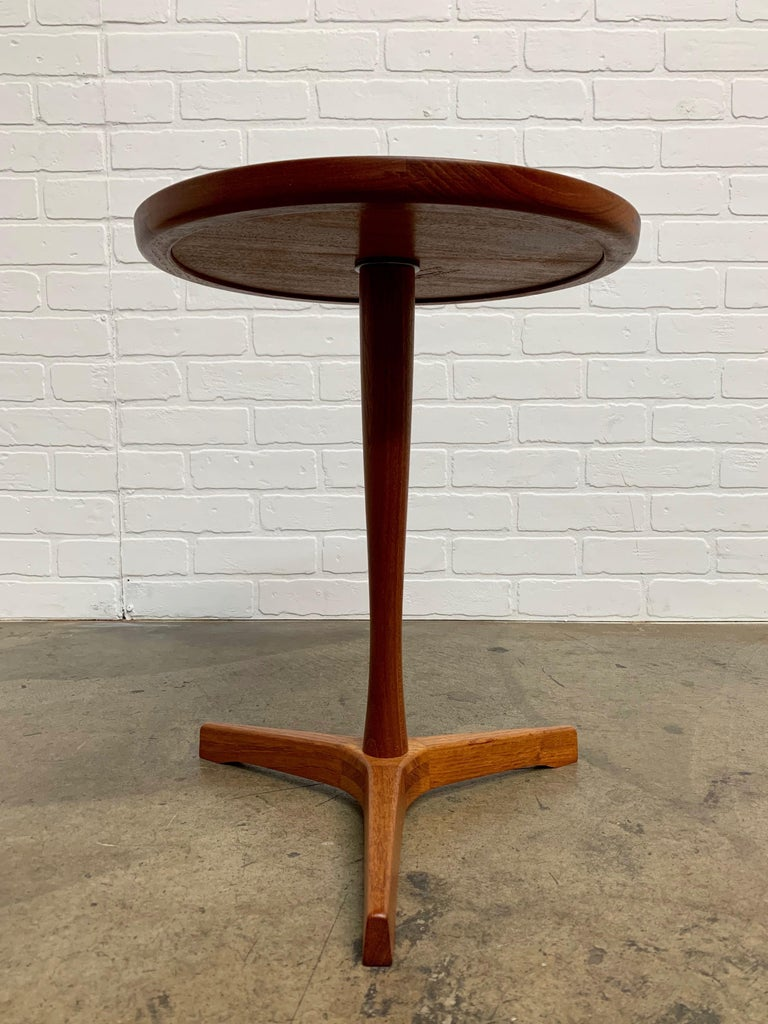 Danish Modern Teak Side Table Designed by Hans Andersen In Good Condition For Sale In Laguna Hills, CA