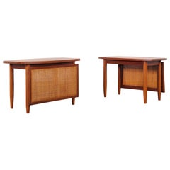 Danish Modern Teak Side Tables by Peter Hvidt