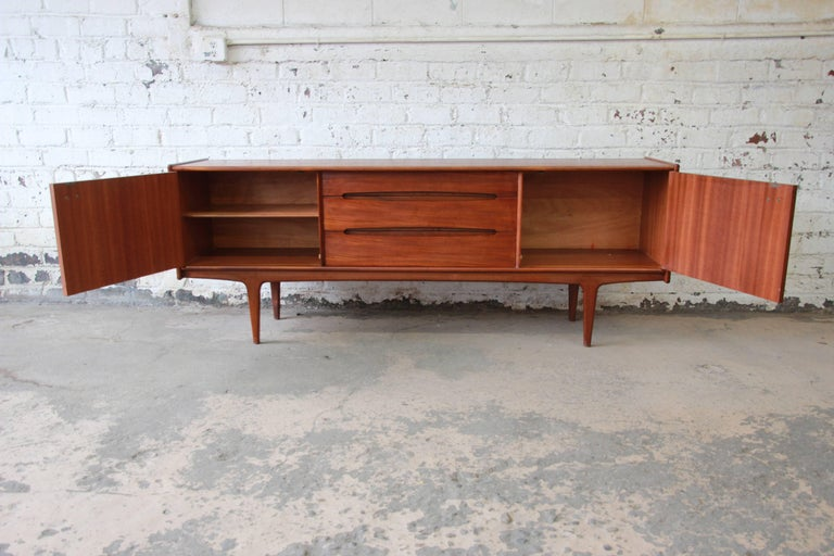 Danish Modern Credenza For Sale : Danish modern teak sideboard credenza by younger for sale at 1stdibs