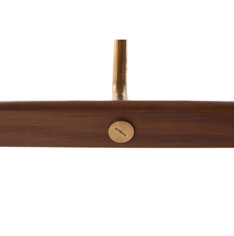 Danish Modern Teak Sliding Door Credenza with Brass Details For Sale 1
