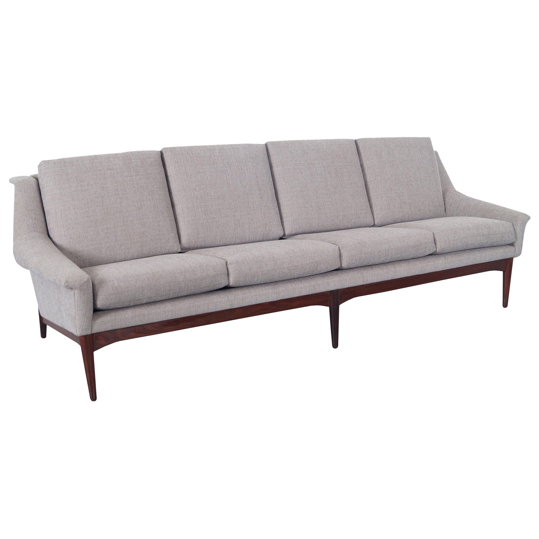 Danish Modern Teak Sofa Attributed to Folke Ohlsson