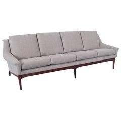Danish Modern Teak Sofa in the Manner of Folke Ohlsson