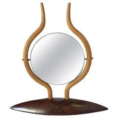 Danish Modern Teak Table Top Vanity Mirror