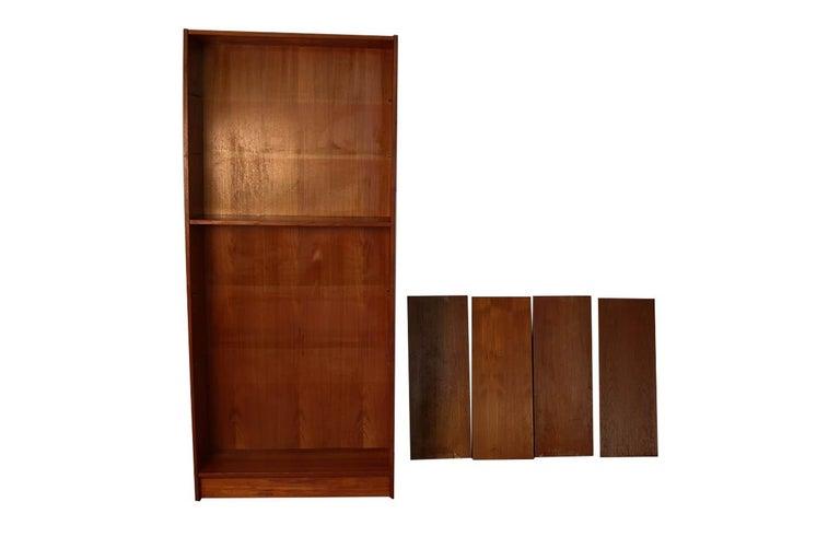 Danish Modern Teak Tall Bookcase 6