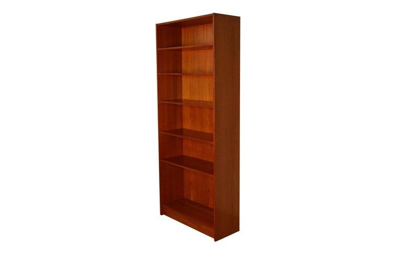 Mid-Century Modern Danish Modern Teak Tall Bookcase