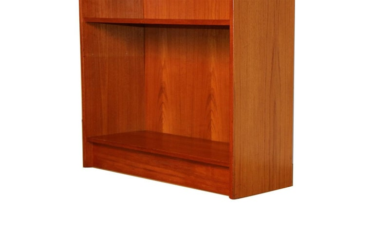 Danish Modern Teak Tall Bookcase In Good Condition In Baltimore, MD