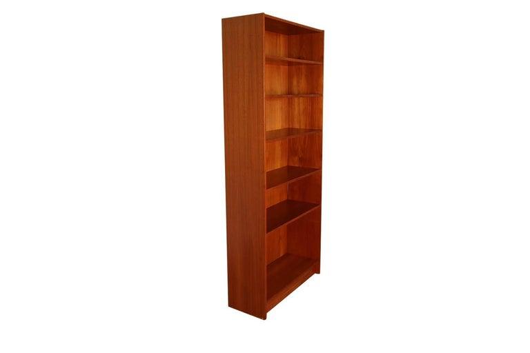 Mid-20th Century Danish Modern Teak Tall Bookcase