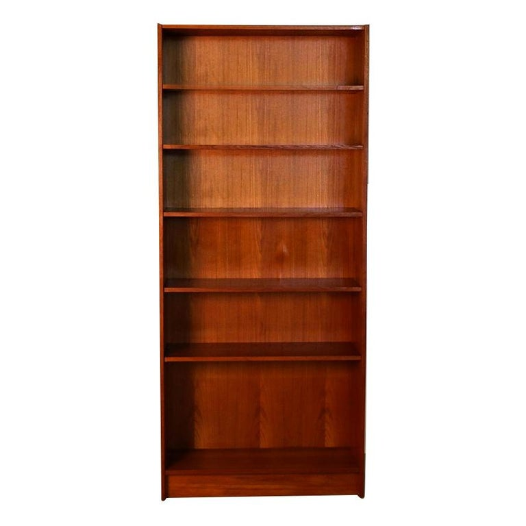 Danish Modern Teak Tall Bookcase