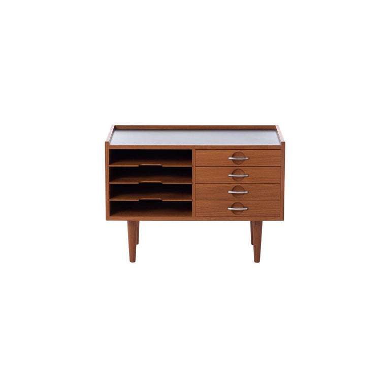 Danish Modern Teak Telephone Table Hans J Wegner/Johannes Anderson Model 585 For Sale