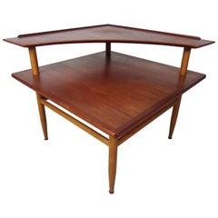 Danish Modern Teak Two-Tiered Coffee Table