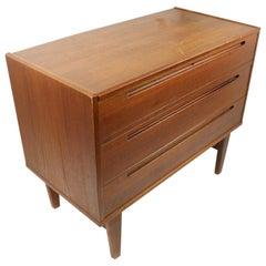 Danish Modern Teak Vanity Dresser Chest of Drawers