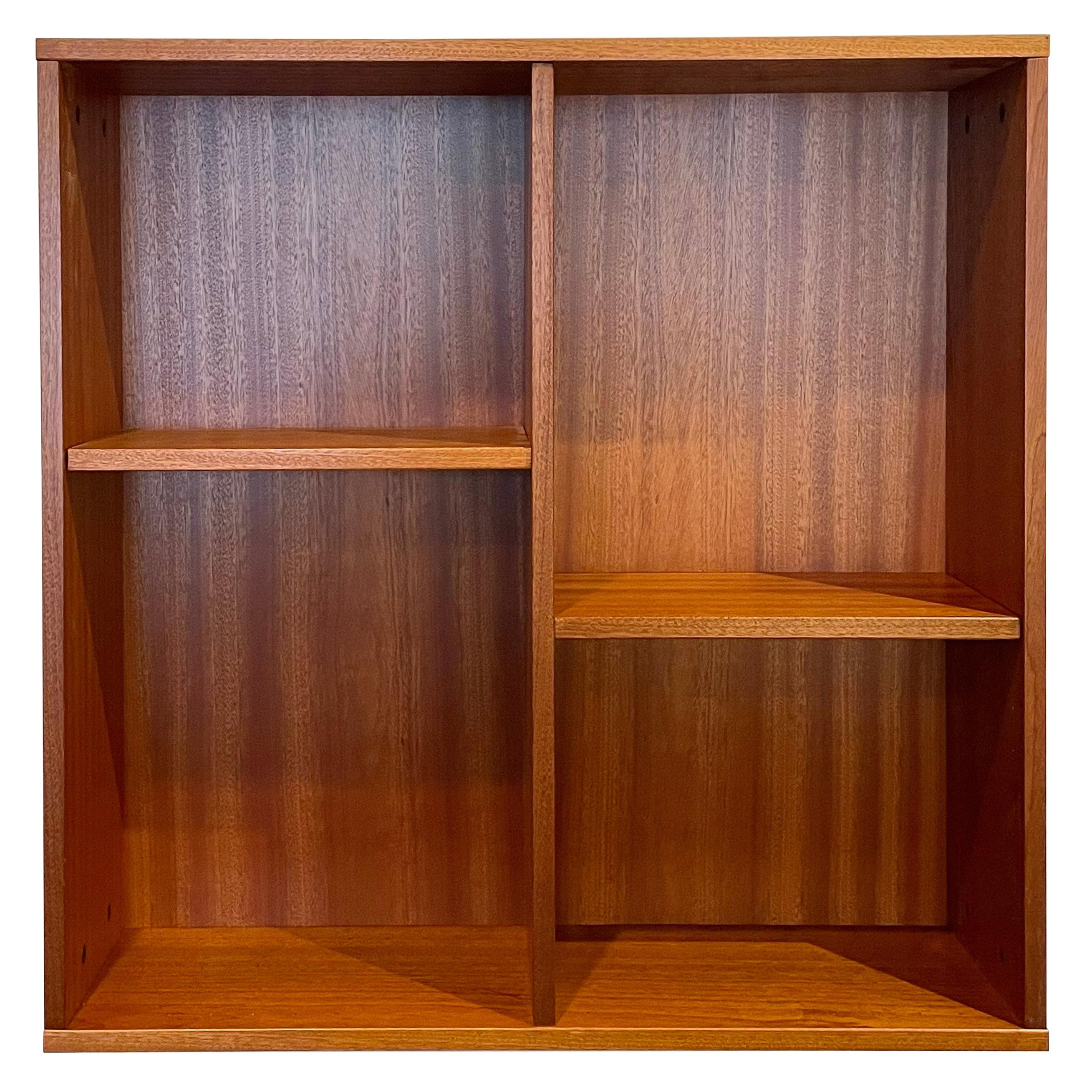 Danish Modern Teak wall Hanging Cabinet with Removable Shelves