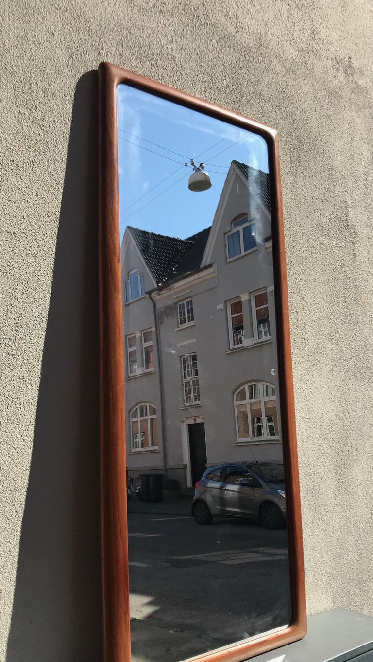 Mid-20th Century Danish Modern Teak Wall Mirror by Johannes Andersen for CFC Silkeborg, 1960s
