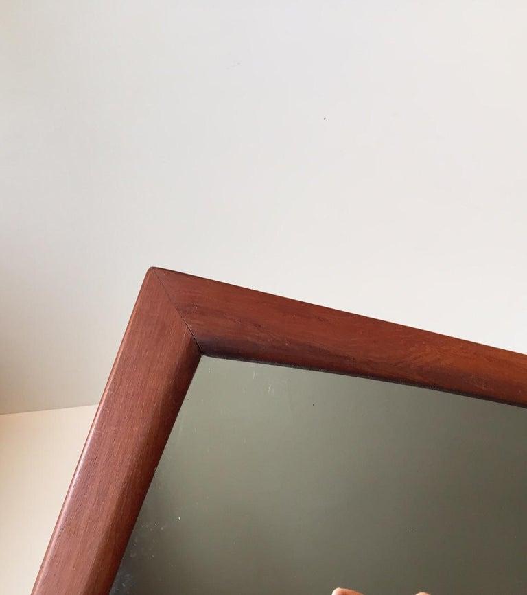 Mid-Century Modern Danish Modern Teak Wall Mirror from Aksel Kjersgaard, 1960s For Sale