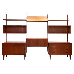 Danish Modern Teak Wall Unit by Poul Cadovius, Attributed, 1950s