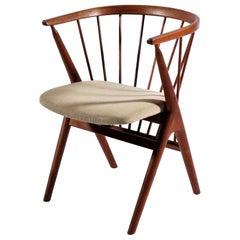 Danish Modern Teak Wood Arm Chair No. 8 by Helge Sibast, 1953