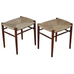 Danish Modern Teak Wood Stools by Peter Hvidt & Orla Molgaard from the 1950s