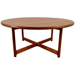 Danish Modern Teak X-Base Coffee Table