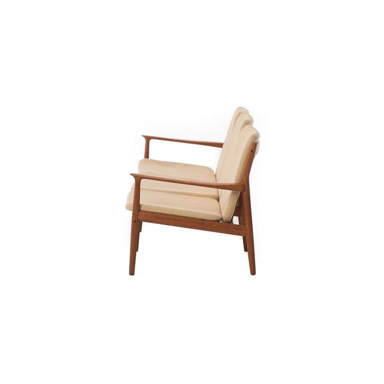 Scandinavian Modern Danish Modern Three-Seat Sofa For Sale