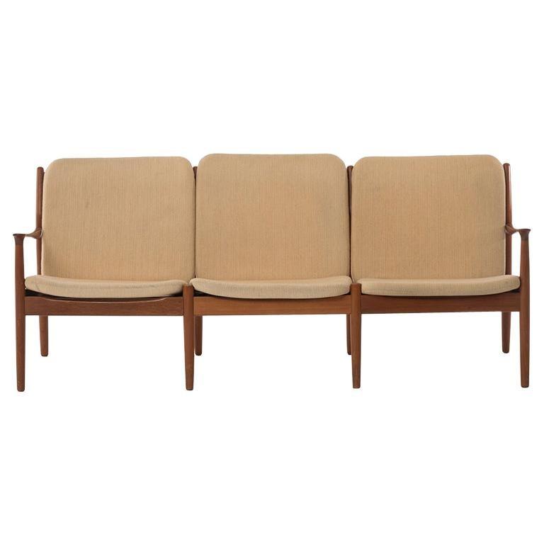 Danish Modern Three-Seat Sofa For Sale