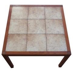 Danish Modern Tile Top Teak Coffee or Cocktail Table
