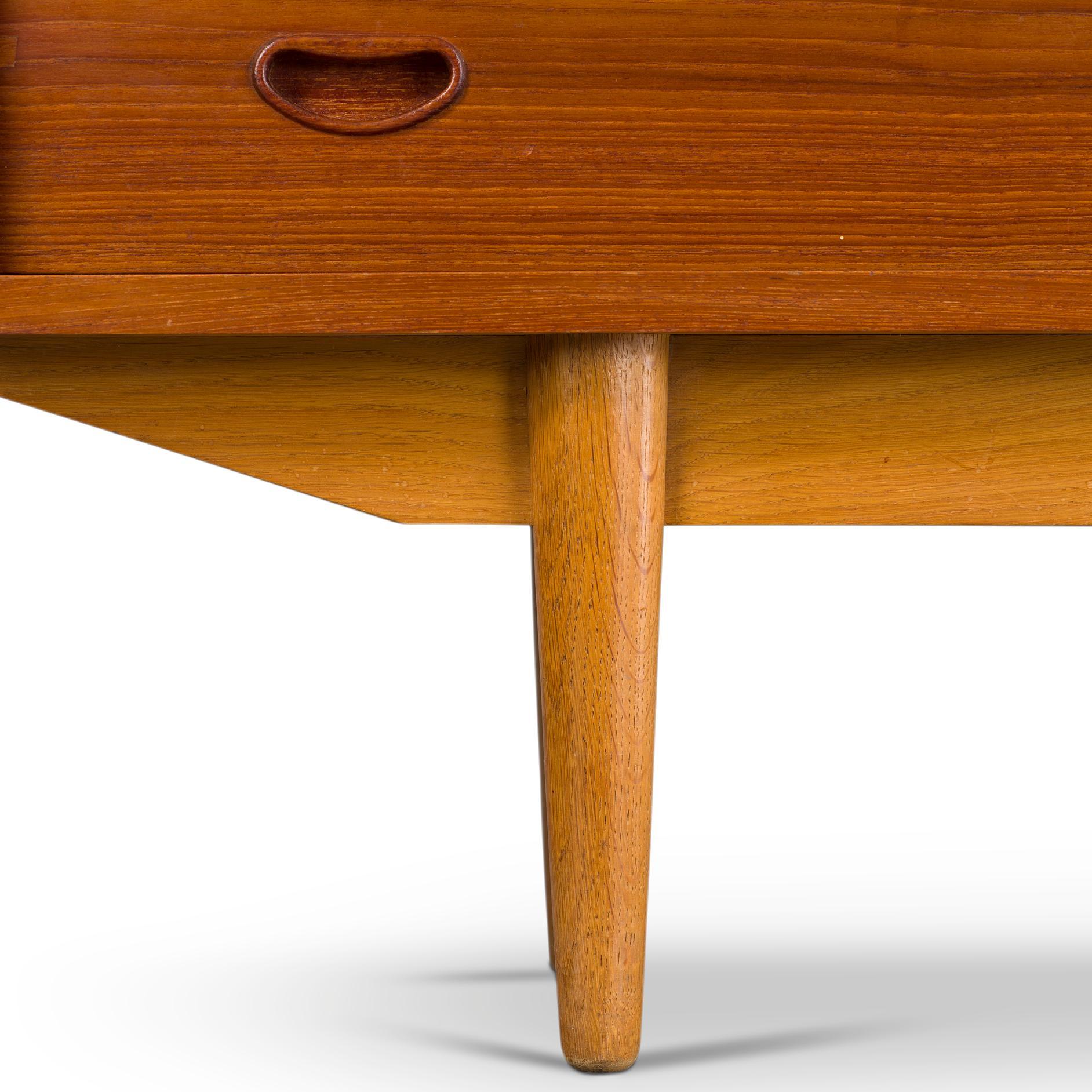 Danish Modern Two Tier Sideboard In Teak With Oak From Skovby Møbelfabrik 1960s