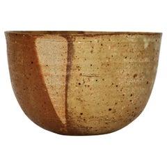 Danish Modern Unique Stoneware Bowl by Beate Andersen, Own Studio, 1970s
