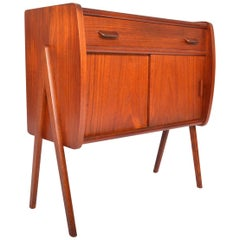 Danish Modern V-Leg Entry Chest in Teak