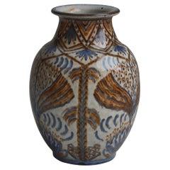 """Danish Modern Vase by Gertrud Kudielka for """"Hjort"""" Ceramics Workshop, 1930s"""