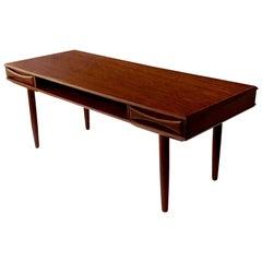 Danish Moddern Arne Vodder Teak Coffee Table, 1960s, with Shelf and Drawers