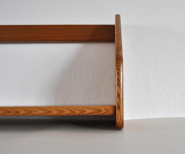 20th Century Danish Modern Wall Bookshelf in Oak by Hans J. Wegner, 1950s For Sale