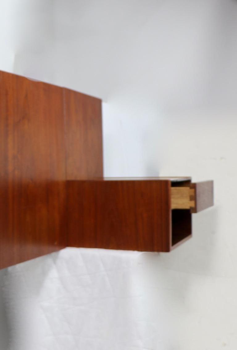 Danish Modern Wall Mount Headboard by Wegner for GETAMA For Sale 4