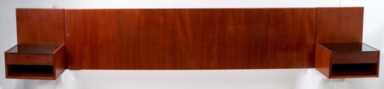 Danish Modern Wall Mount Headboard by Wegner for GETAMA In Good Condition For Sale In New York, NY
