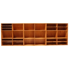 Danish Modern Wall Mounted Mookcases in Solid Pine by Mogens Koch, 1960s