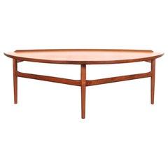 Danish Modern Walnut Cocktail Table by Finn Juhl for Baker
