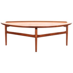 Danish Modern Walnut Cocktail Table by Finn Juhl for Baker