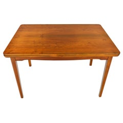 Danish Modern Walnut Draw Leaf Dining Table