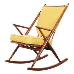 Danish Modern Walnut Rocking Chair by Frank Reenskaug