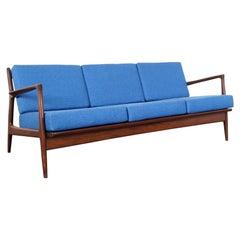 Danish Modern Walnut Sofa by Ib Kofod-Larsen