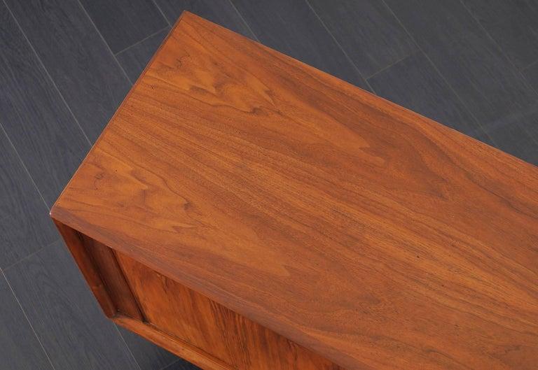 Danish Modern Walnut Tambour Door Credenza by Bernhard Pedersen & Son For Sale 2