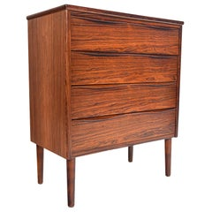 Danish Modern Wave Pull Rosewood Chest