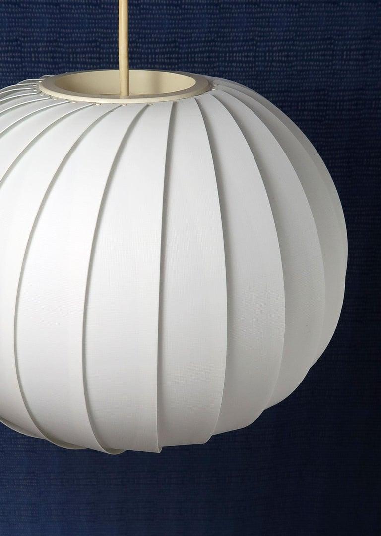 Scandinavian Modern Danish Modern White Globe Pendant by Lars E. Schiøler for Hoyrup, 1972 For Sale
